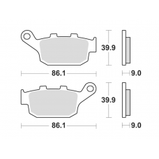 956CM56 Street Sintered Brake Pad