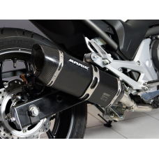HONDA NC700X/S 2012-2013/ NC750X/S 2014-2015 P-TEC II SS BLACK SLIP-ON