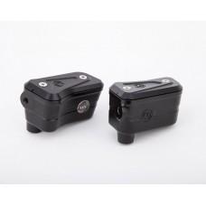 Moto Corse Brake & Clutch reservoirs kit for Brembo semi-radial OEM pumps Streetfighter V4/S - Black